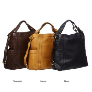 Presa 'Kennington' Oversized Leather Hobo Bag, $114.99, http://www.overstock.com